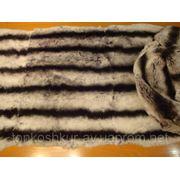 Натуральный мех для одежды пластина РЕКС серый фото