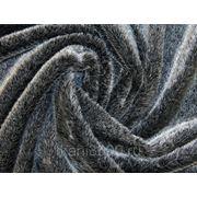 Мех искусственный норка черно-серый фото