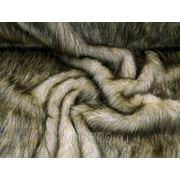Мех искусственный длинноворсный волк фото