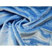 Мех искусственный коротковорсовой голубой фото
