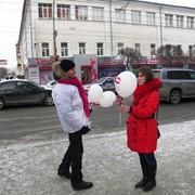 Раздача воздушных шаров фото