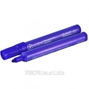 Маркер перманентный Basic, пулевидный наконечник 1-3 мм, синий Маркер перманентный Basic, пулевидны фото