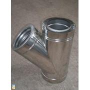 Тройник с теплоизоляцией 45 н / оц, 0,5 мм, диаметр (ф100 / 160) фото