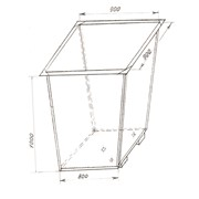 Контейнеры металические 0,75м3 фото