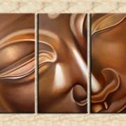 Будда (модульная интерьерная объемная картина маслом на холсте на заказ) фото