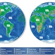 Карта полушарий Земли фото