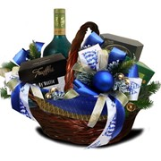 Подарочные корзины к Новому Году. фото