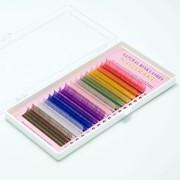 Ресницы для наращивания цветные Nagaraku микс 16 линий фото