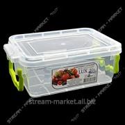 Контейнер пищевой прозрачный 0, 5 л (ручки-защелки) фото