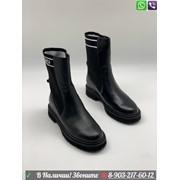 Высокие Ботинки Fendi черные фото