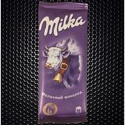 Шоколад Милка молочная фото