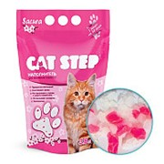 Наполнитель Cat Step Cиликагель 3,8л Сакура для кошачьих туалетов фото