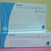 Перчатки нитриловые Medicom SafeTouch® Slim Blue Nitrile размер XS фото