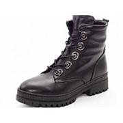Ботинки женские KSKS-4100_01-1/Z зима натуральная кожа черный фото