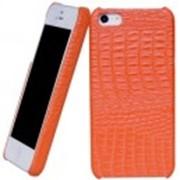Чехол Borofone for iPhone 5/5S Crocodile Leather Back Cover case Orange (BI-BL009-O), код 56103 фото