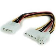 Переходник питания Molex штекер на 1 ATX 4-контактное гнездо плюс 1 Molex гнездо Cablexpert CC-PSU-4 кабель 15 см фото
