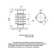 Изолятор опорный стержневой кремнийорганический ИОСК 10-35-500 фото