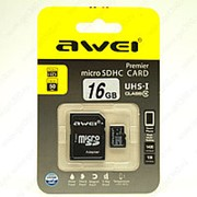 Awei MicroSD Card 16 гигабайта фото