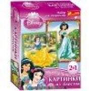 Набор для творчества Creative Картинки с блестками Принцессы Жасмин и Белоснежка 13153011Р фото