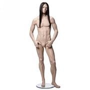 Манекен мужской стилизованный телесный, (парик отдельно), для одежды в полный рост, стоячий прямо. MK-TUM-2M фото