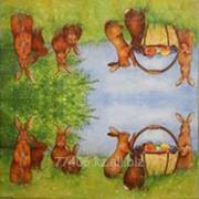 Салфетка для декупажа Пасхальные кролики фото