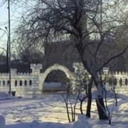 Скульптуры из льда Ворота с аркой фото