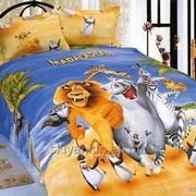 Детское постельное белье сатин 3d фото
