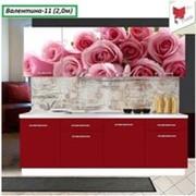Кухня с фотофасадом (розовые розы) фото