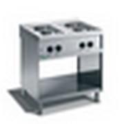 Плита электрическая 4-х конфорочная с открытой базой Giga M74P фото
