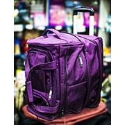 Дорожная сумка на колесах Happypeople 43х30х43см сиреневая фото