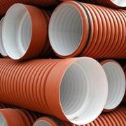 Трубы канализационные полипропиленовые гофрированные двухслойные фото