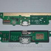 Шлейф (Flat cable) с коннектором зарядки, микрофона, виброзвонка для Lenovo A516 4668 фото