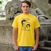 Футболка патриотическая ярко-желтая с принтом фото