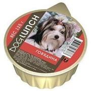 Dog Lunch 125г конс. Влажный корм для взрослых собак Крем-суфле с Говядиной фото