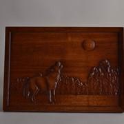 Изделия из дерева художественные | картина из дерева волк купить Украина фото