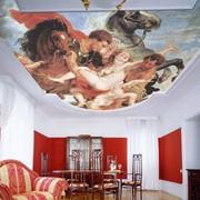 Художественные натяжные потолки фото