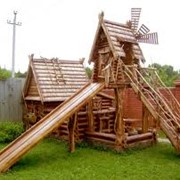 Детские площадки строительство сруб фото