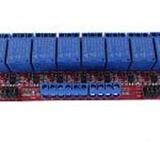8ми модульное реле 12V с переключением управления фото