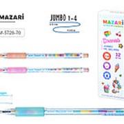 """Ручка шариковая Mazari """"Dessert"""" синяя, 0.5 мм., игол. нак., цветной корп., M-5728-70 фото"""