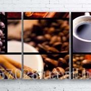 Модульна картина на полотні Колаж з кави код КМ100180-056 фото