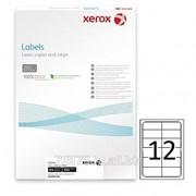 Этикетка самоклеящаяся Xerox, А4, размер 105*44 мм, 12 этикеток фото
