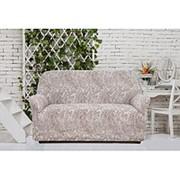 Натяжной чехол на двухместный диван Еврочехол Еврочехол «Виста. Буше» фото