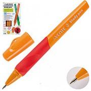 """Ручка шариковая deVente """"Study pen"""", для правшей, синяя, 0.7 мм., грип, цв. в ассорт. 5073605 фото"""