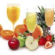 Соки с одного вида фруктов и микс в ассортименте фото