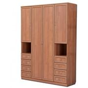 Шкаф для белья со штангой, полками и ящиками Арт. 111 фото