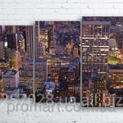 Модульна картина на полотні Нью-Йорк. Манхеттен код КМ100160-072-2 фото