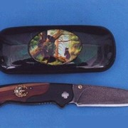 Ножи авторские. Модель 105. Нож булатный складной, одноручный - 2. фото