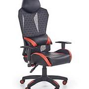 Кресло компьютерное Halmar DOMEN (черный/красный) фото