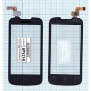 Сенсорное стекло (тачскрин) для Lenovo A690 черное фото