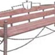 Скамейка кованая СК-11 фото